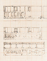 Brunel's sketches of GWR railway carriages (University of Bristol)