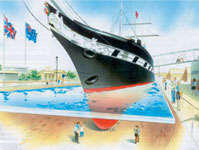 Artist's impression of ss Great Britain's new 'glass sea' (All images above courtesy of ss Great Britain Trust)