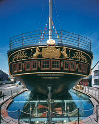 The ss Great Britain's stern by day