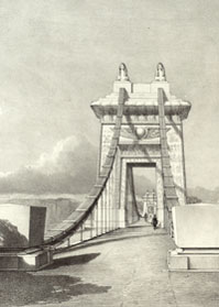 Artist's impression of Brunel's gateway to bridge (University of Bristol)