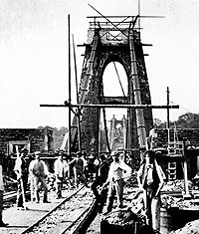 Bridge under construction (Clifton Suspension Bridge Trust)