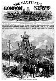Front page coverage of opening of bridge