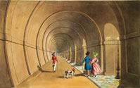 Thames Tunnel aquatint (Elton Collection: Ironbridge Gorge Museum Trust)